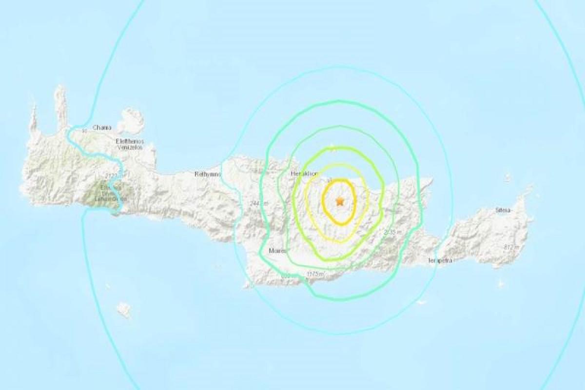 6.1-magnitude earthquake recorded in Crete