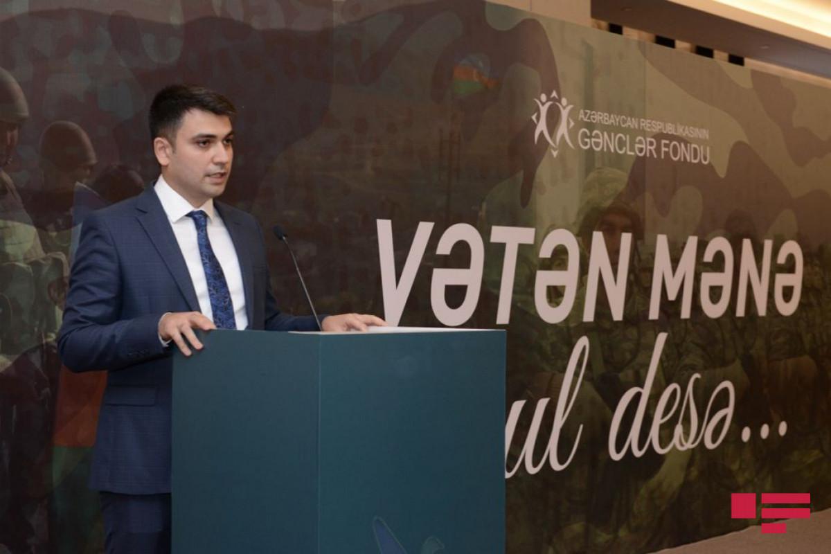 """Gənclər Fondunun təşkilatçılığı ilə """"Vətən mənə oğul desə"""" adlı anım tədbiri keçirilib"""