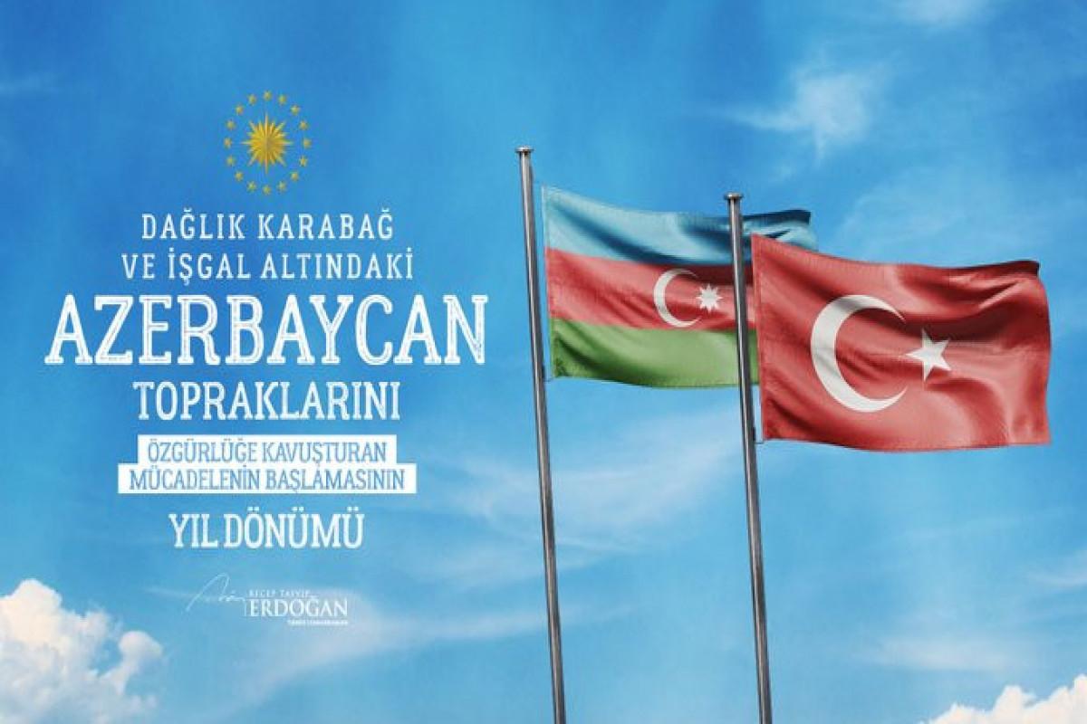 Эрдоган поделился публикацией в связи с Днем памяти Азербайджана