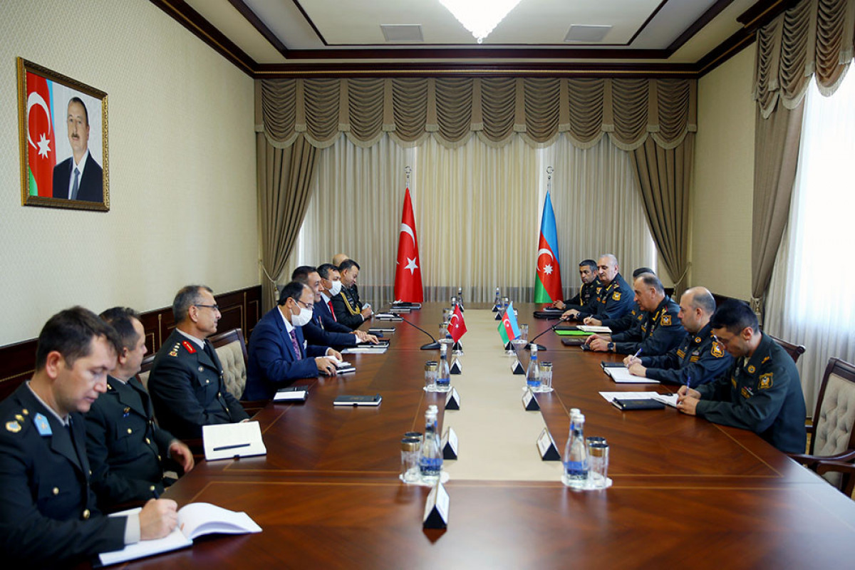 Chief of the General Staff of the Azerbaijan Army meets with the Deputy Minister of National Defense of Turkey