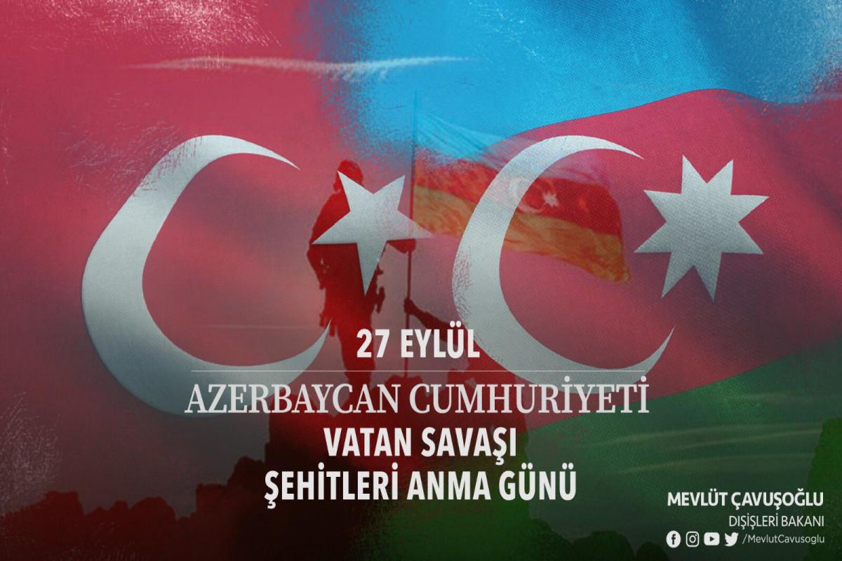 Turkish FM shares a post on anniversary of Patriotic War