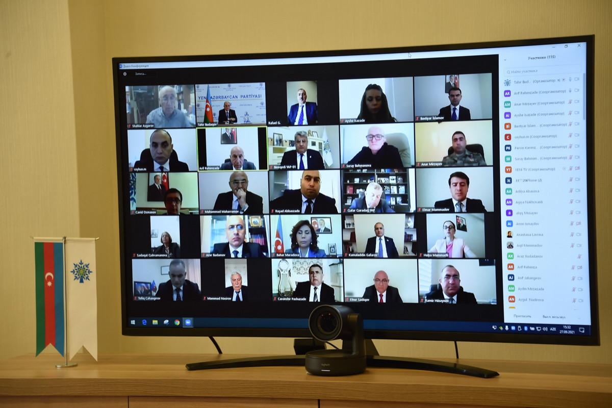 YAP Mərkəzi Aparatında 27 Sentyabr – Anım Gününə həsr olunmuş videokonfrans keçirilib