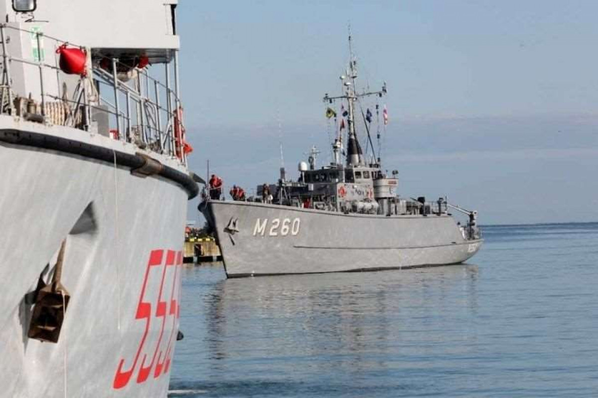 """NATO ships arrive in Georgian territorial waters-<span class=""""red_color"""">PHOTO"""