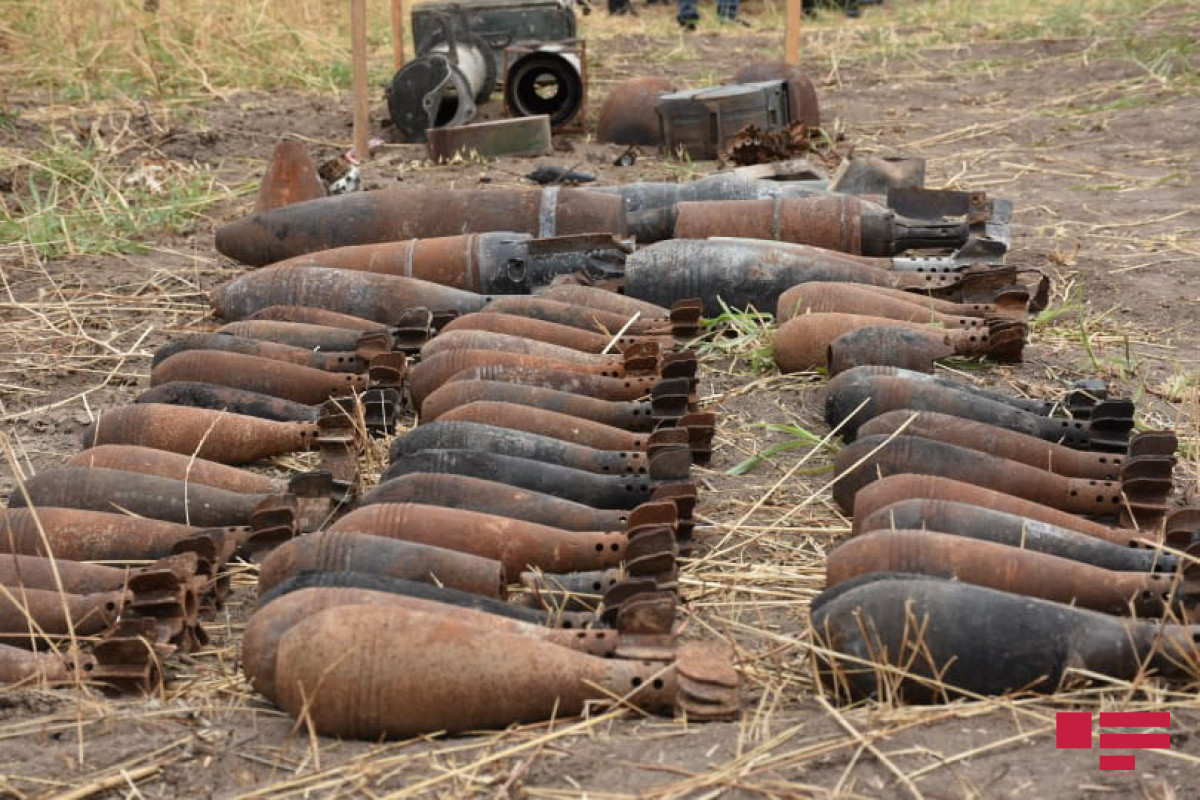 It is announced how many mines and unexploded ordnance found in liberated regions and how many territories cleared