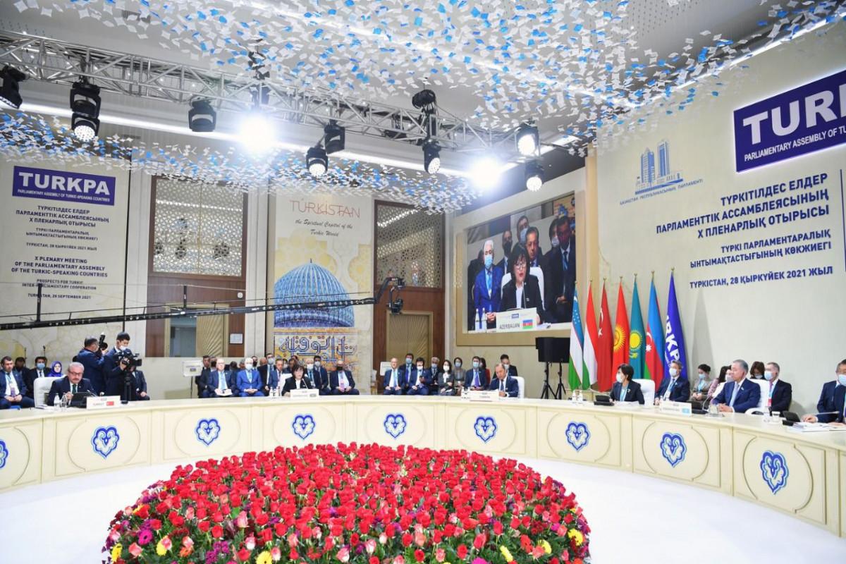 На 10-м пленарном заседании ТюркПА была почтена память шехидов Отечественной войны