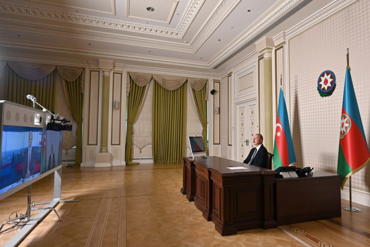 President Ilham Aliyev was interviewed by France 24 TV channel