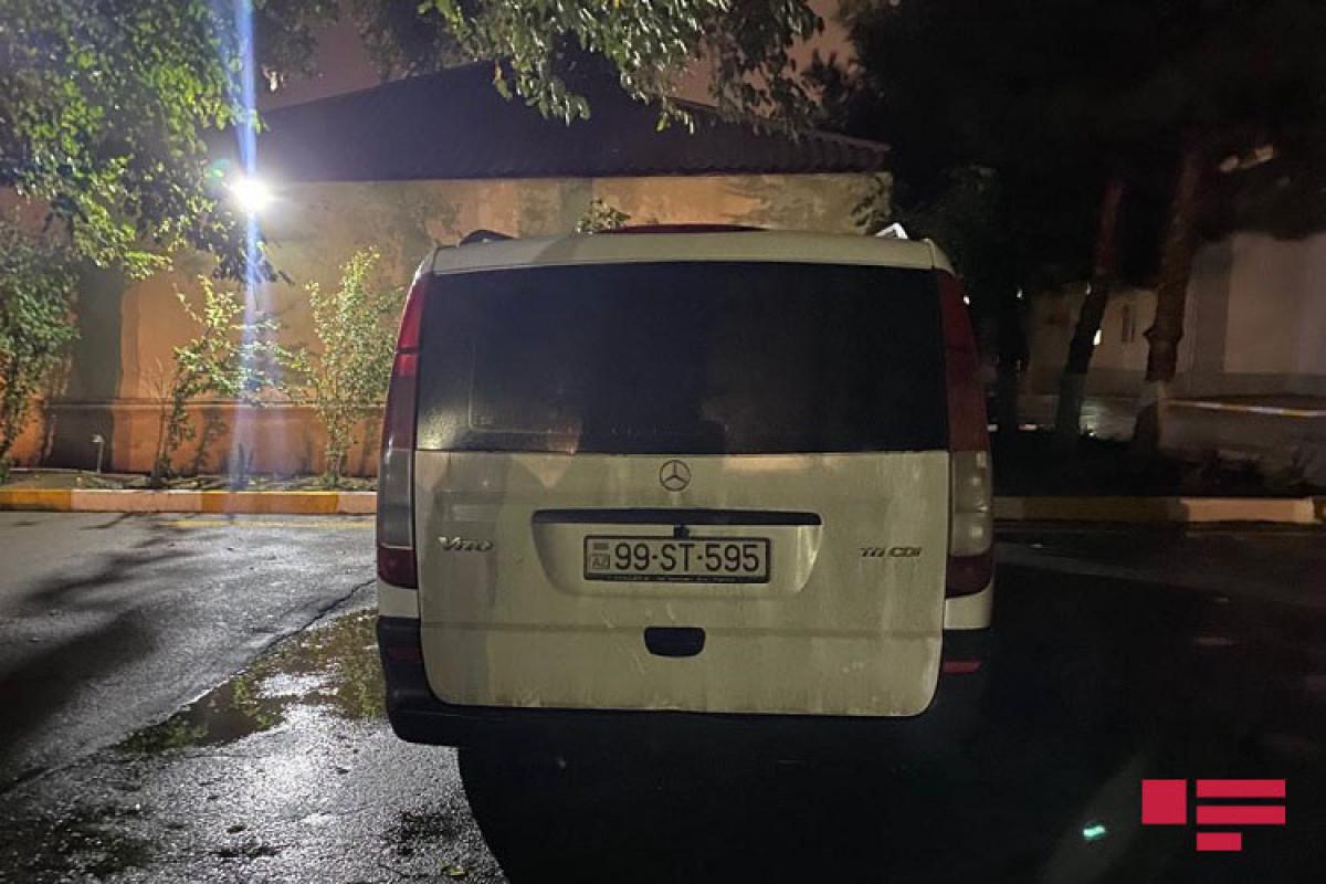 Bakıda mikroavtobus piyadanı vurub - FOTO  - VİDEO