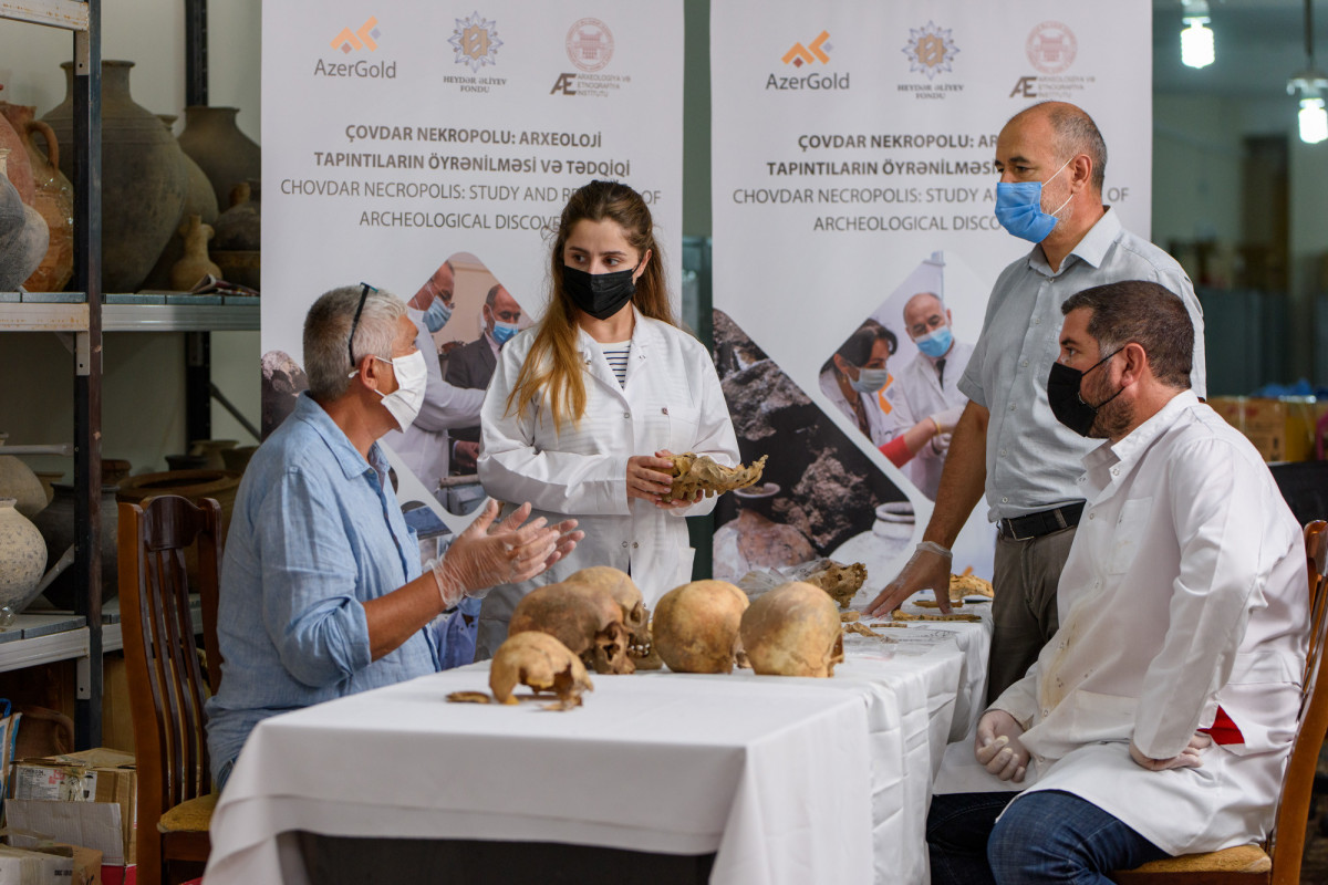 Çovdar nekropolunda aşkar olunmuş tapıntılar nüfuzlu xarici laboratoriyalarda analiz olunur - FOTO