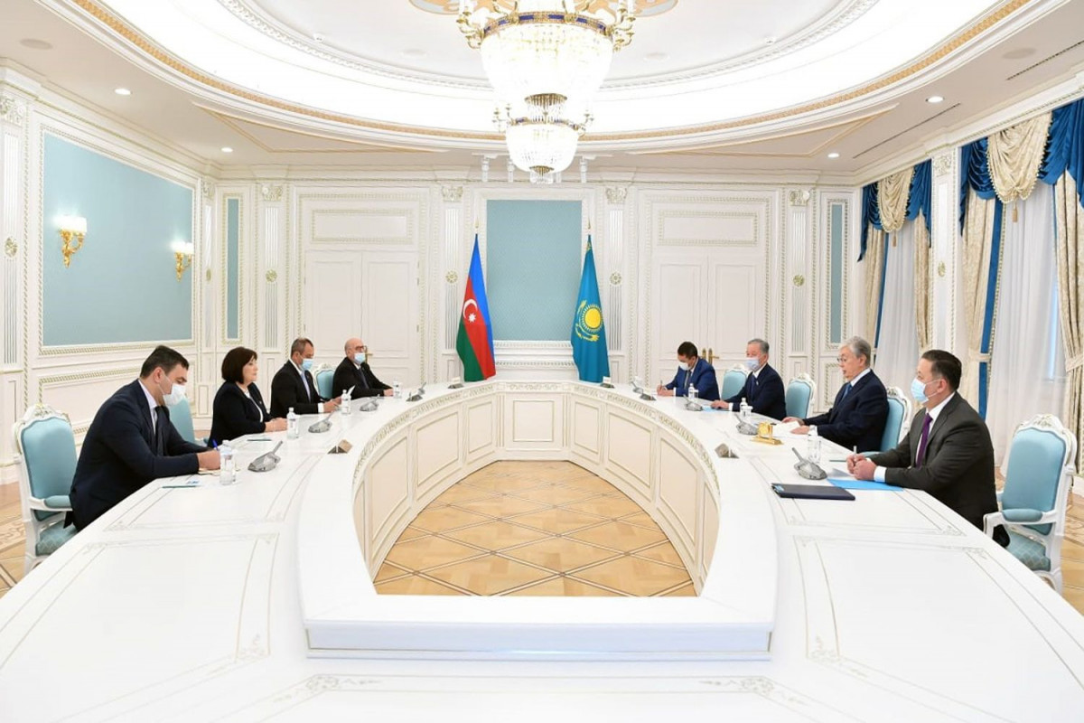 Sahibə Qafarova Qazaxıstan Prezidenti ilə görüşüb