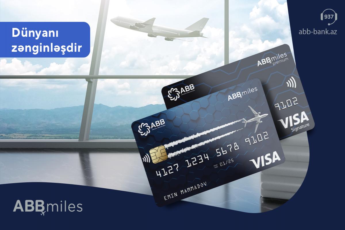 """""""ABB Miles"""" indi """"Visa"""" kartları ilə®"""